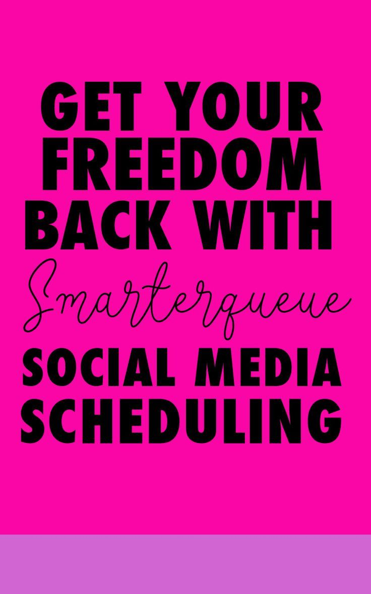 How to Get Your Freedom Back by Automating Social Media with Smarterqueue   Jaimie Myers   Scheduling your social media will save you so much time in your online business. Smarterqueue creates evergreen content that you can post again and again to Twitter, Facebook groups and Facebook pages. Get 30 days free when you click through - or repin for later!