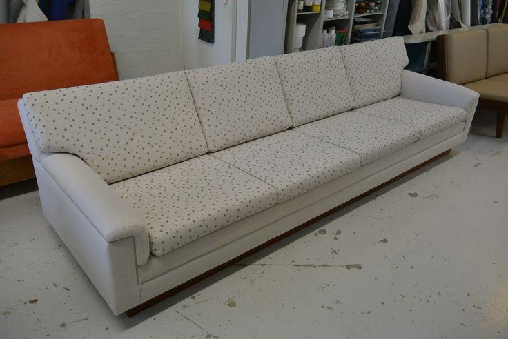 Vilka Nastola, 4 hengen sohva uusilla pehmusteilla ja verhoilulla