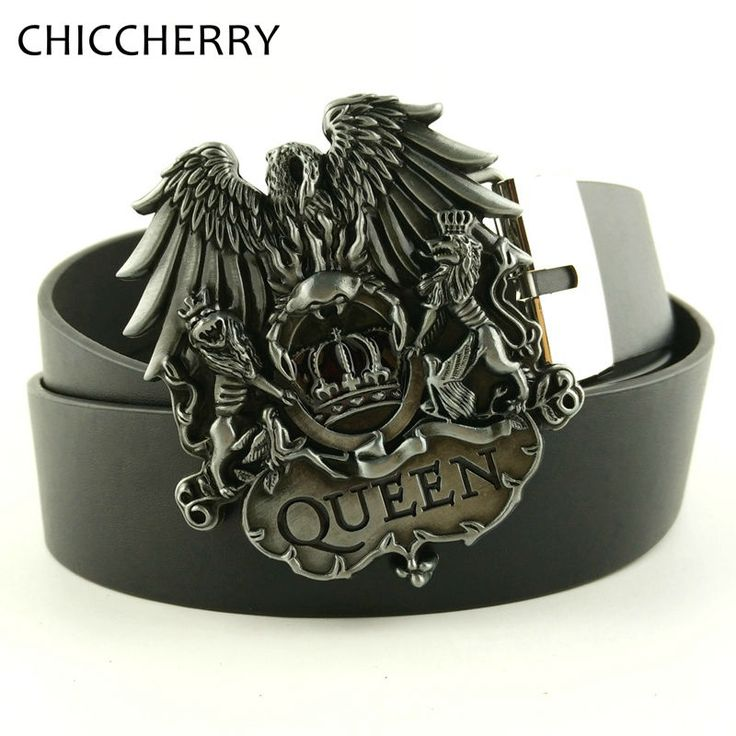 Mens Luxury Brand Designer Western Belts Metal Big Buckle Lions Crown Queen Cowboy Fivela De Cinto Masculino Male Jeans in Stock