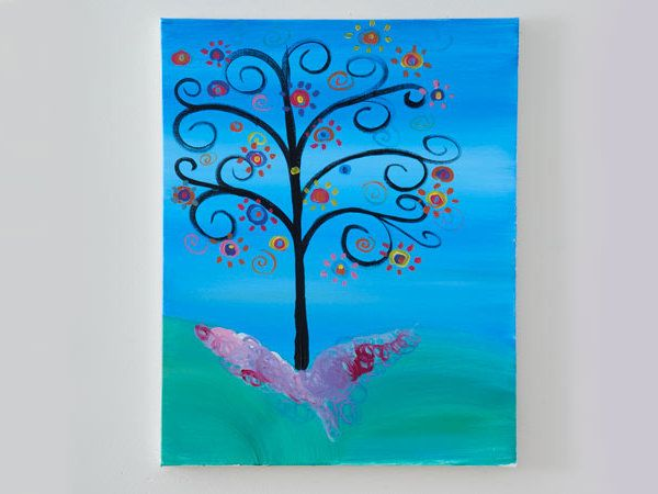 Sip and Paint- Funky Tree