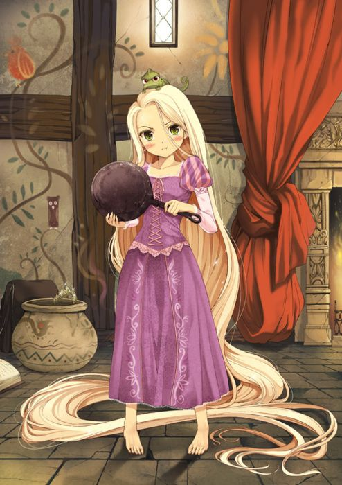 Anime Rapunzel! don't mess with me and my cooking!!!