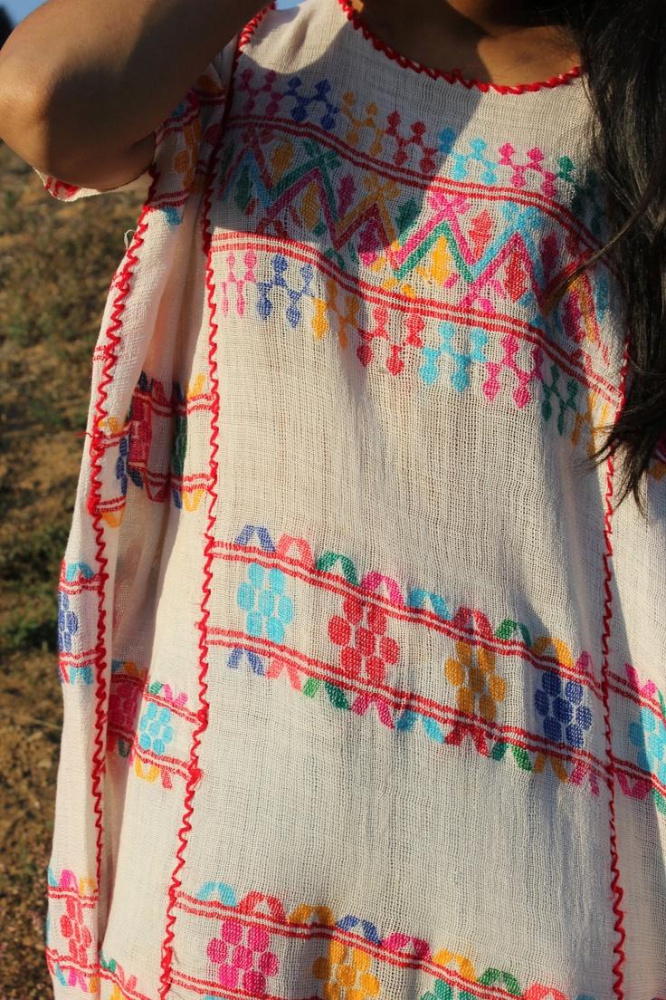 Vintage handwoven Huipil tunic