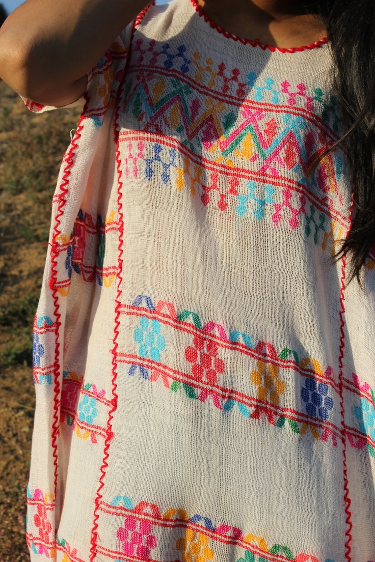 Vintage handwoven Huipil tunic