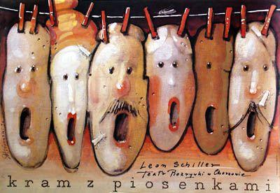 Kram z piosenkami / Stage with Songs Musical by Leon Schiller designer: Mieczyslaw Gorowski year: 1990