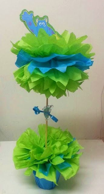 Monsters Inc Centerpieces | Monsters inc Baby Shower Theme Centerpiece