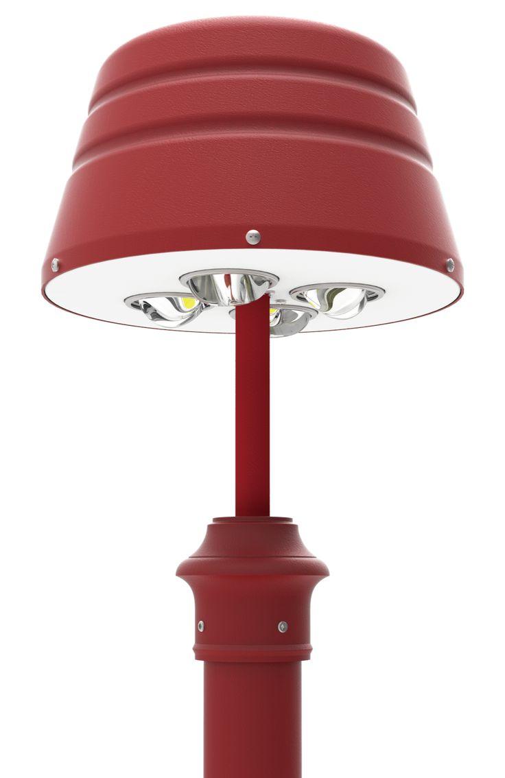 LED Post Top Light Fixtures 1201 Series  DukeLight.com/1201