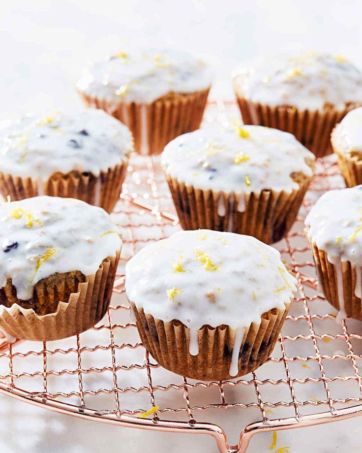 Wild-Blueberry Spelt-Oat Muffins