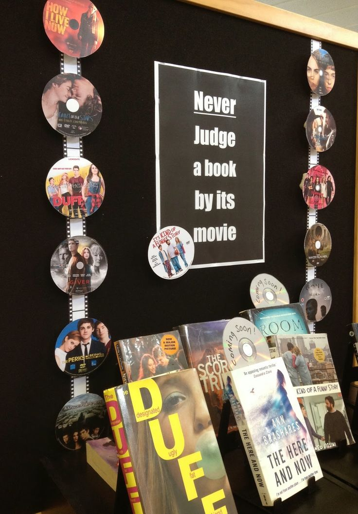 Library Displays: Never judge a book by its movie