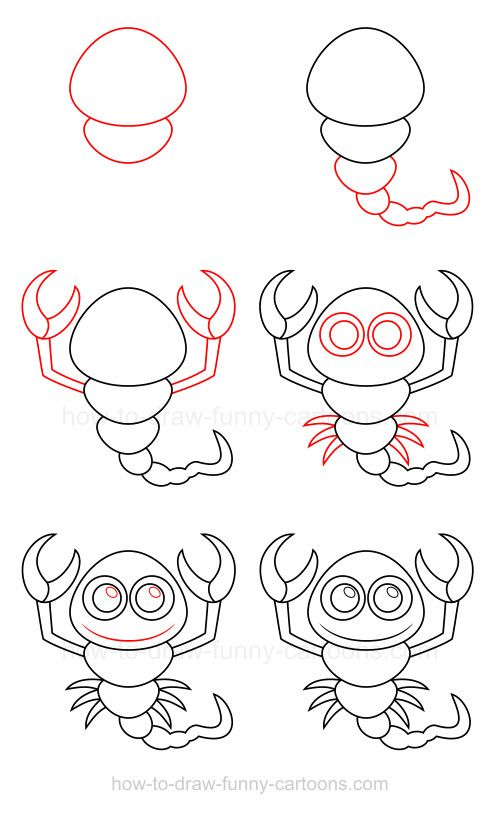 How to draw a scorpion