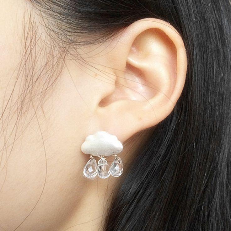 Accessori New Fashion jewelry Nube goccia d'acqua di cristallo della perla ciondola l'orecchino regalo per le donne ragazza E2560