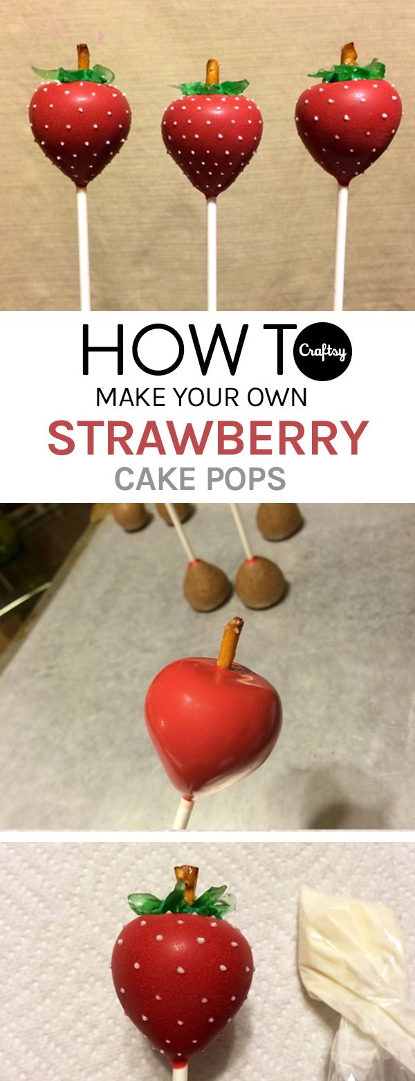 These strawberry cake pops will almost make you think you're eating the real thing! Learn how to make them on the Craftsy blog.