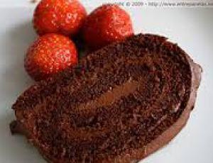 Rocambole de Chocolate sem Farinha - Ideal Receitas