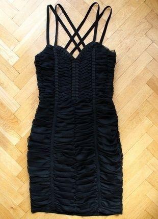 Kup mój przedmiot na #vintedpl http://www.vinted.pl/damska-odziez/sukienki-wieczorowe/8955577-hm-by-night-czarna-sukienka-cami-gorsetowa-na-ramiaczkach-s-36