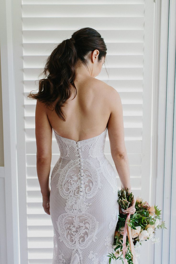 The Bride in a J'Aton Couture gown #jatoncouture #lace #strapless