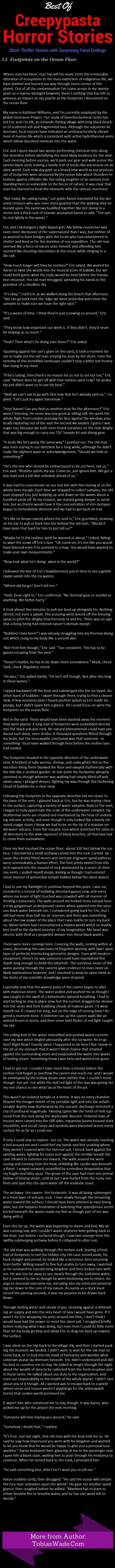 Footprints on the Ocean Floor Scary creepypasta horror story
