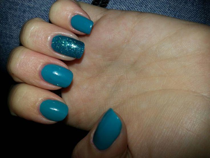 Blu/verde glitter