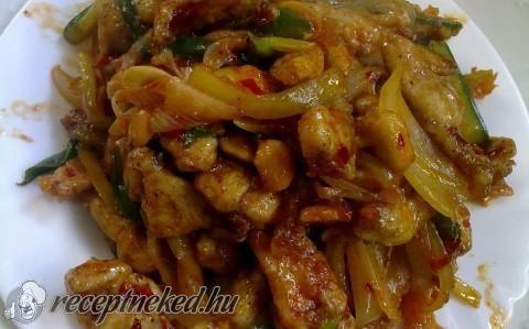 Gong bao – kínai mogyorós csirke recept fotóval