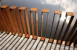 steel rail fence - Bing Images