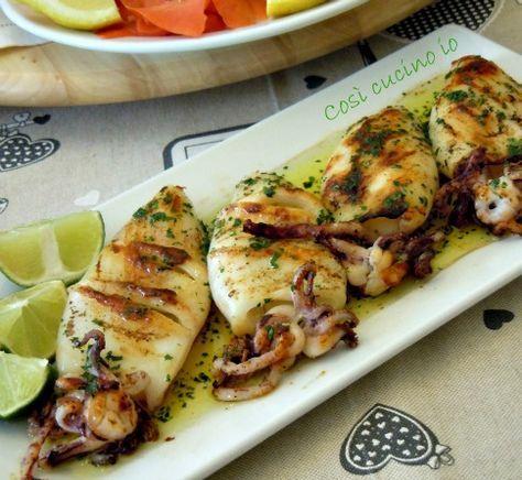 Calamari grigliati al lime, ricetta estiva