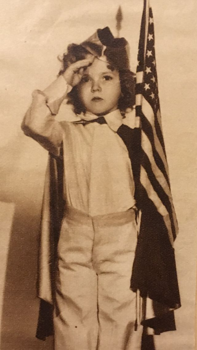 Shirley Temple, I pledge allegiance to the flag...