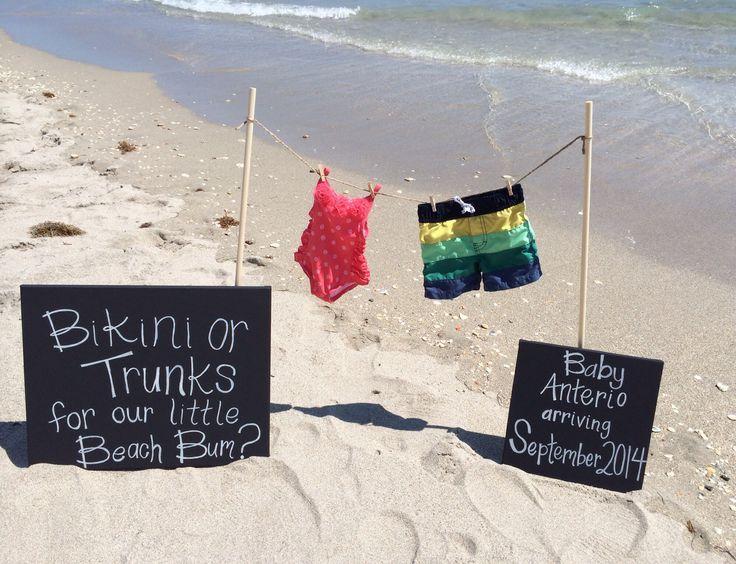 Our official beach pregnancy announcement!!