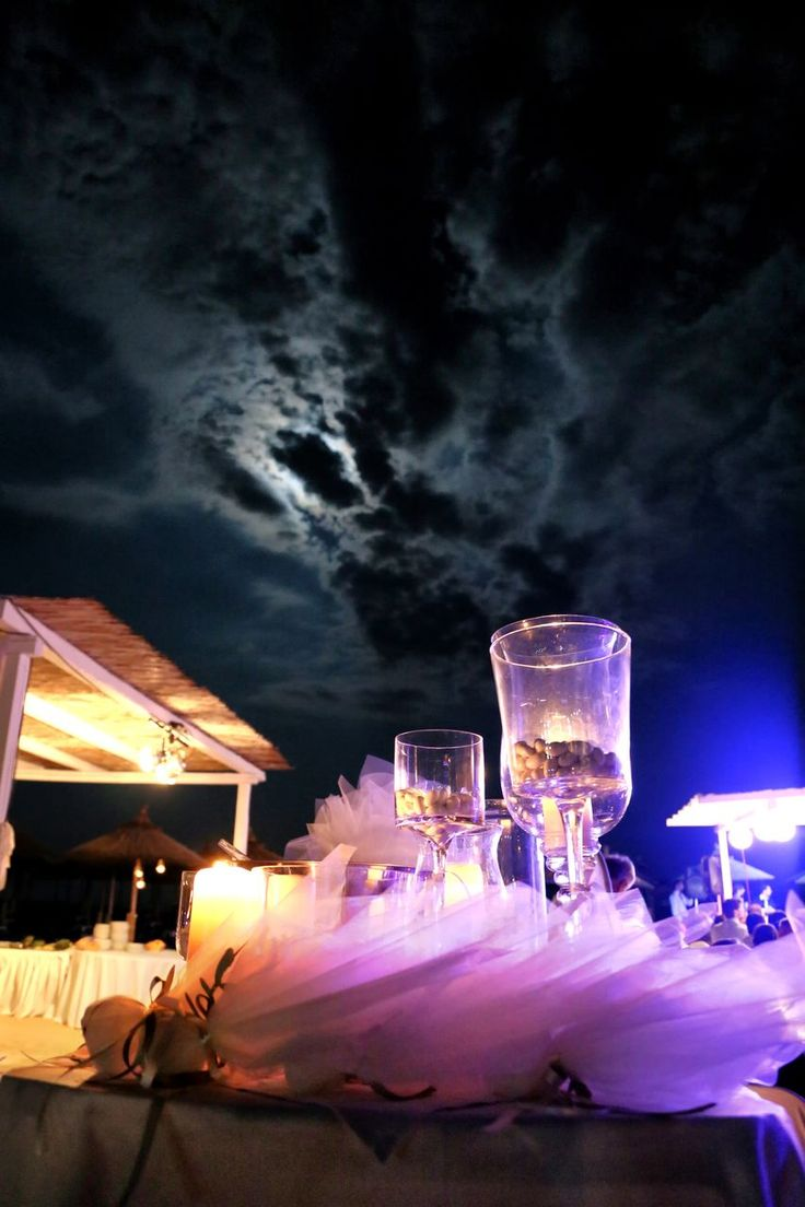 Reception decoration in wedding Chalkidiki Greece.
