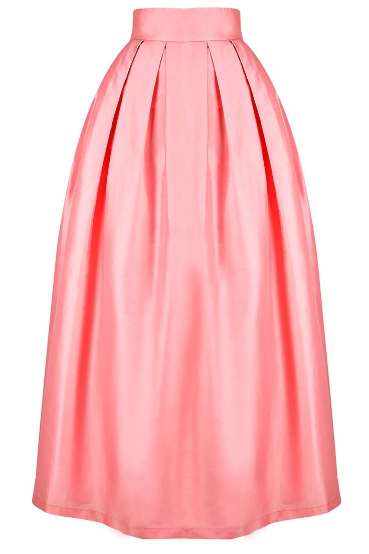 Dusty pink embroidered box pleat skirt with sash available only at Pernia's Pop-Up Shop.