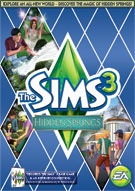 The Sims 3 Hidden Valley Expansion Pack- Got this one on the Sims 3 online store! Adds a new beach town, new Sims goodies such as a spa, a ski lodge and beautiful beach sunsets! Has new objects, clothes and locations to explore! Also contains the Fountain of Youth!