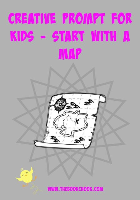 Start with a map, and let kids use it as a prompt for creating, whether that be a story, a dance or an art work. Creative Prompts for Kids - Start with a Map