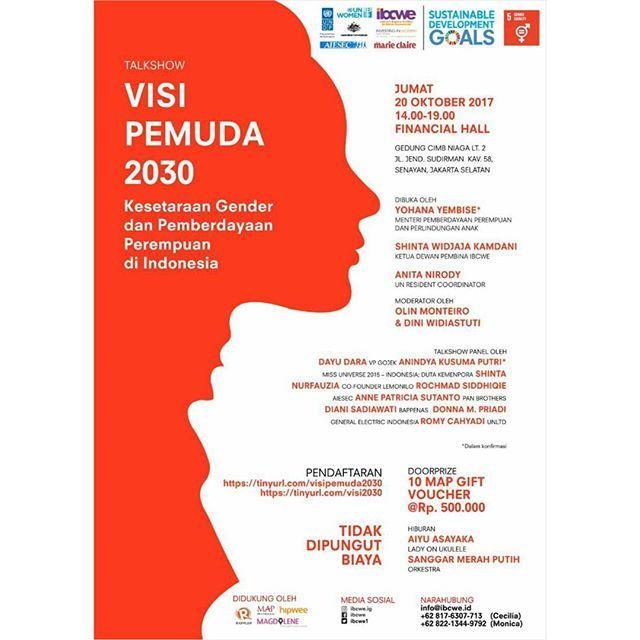 Pemuda masa kini akan menjadi CEO Menteri dan Pemimpin Nasional di masa depan. Suara dan aspirasi mereka saat ini perlu didengar mereka perlu menjadi bagian dari diskusi-diskusi terkait Sustainable Development Goals (SDGs) termasuk pencapaian tujuan 5 tentang Kesetaraan Gender dan Pemberdayaan Perempuan. Perkumpulan Perusahaan untuk Pemberdayaan Wanita di Indonesia (Indonesia Business Coalition for Women Empowerment - IBCWE) bekerjasama dengan United Nations Development Program (UNDP) United…