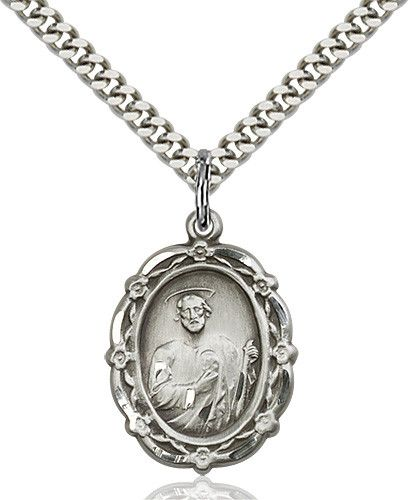 St. Jude Pendant (Sterling Silver) by Bliss   Catholic Shopping .com