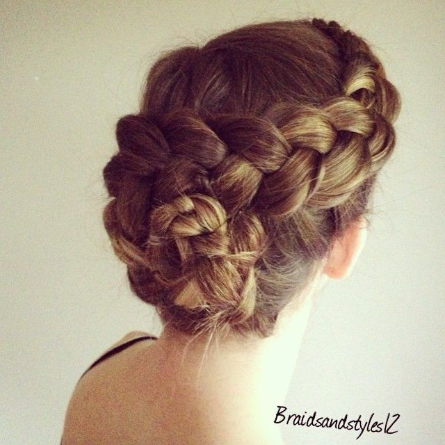 style for hair braiding flower braid updo braided flower updo diy braided updo 5930