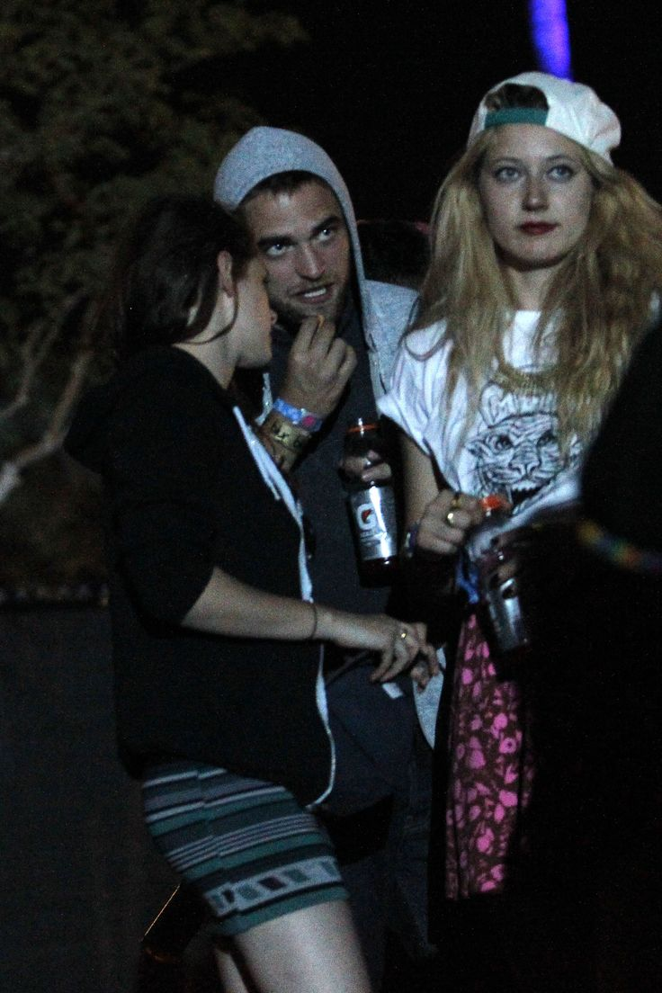 Robert Pattinson ❤ Kristen Stewart ❤ Party people: No doubt Robert and  Kristen were plotting which act to watch next at the festival