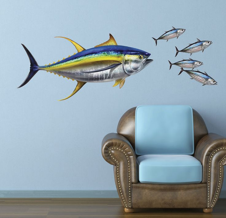 Tuna Repositionable Wall Art Or Decal Sticker For Home Or Office Decor.  From $19.95 Price