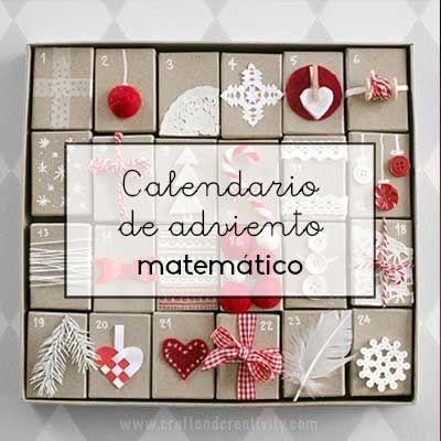 Un calendario de adviento matemático es una buena idea para realizar actividades matemáticas en la cuenta atrás de la Navidad.