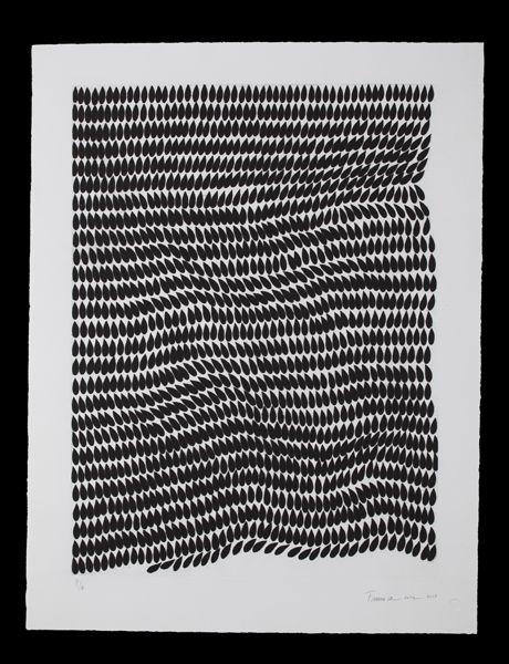 Mute 23, 2013 [etching on hahnemühle paper, sugar lift ground, 31 3/4 × 39 3/4 in  80.6 × 101 cm] https://artsy.net/artwork/francisca-sutil-mute-23