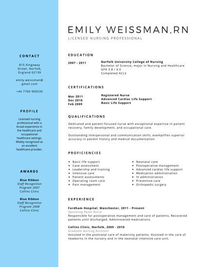 Más de 25 ideas increíbles sobre Student nurse resume en Pinterest - medical surgical nurse resume