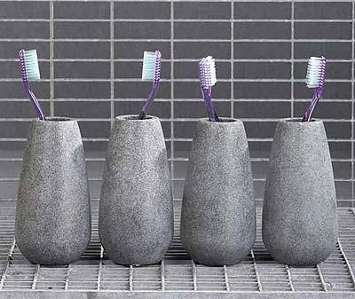 Soapstone tandkrus i fedtstenslook, designet af Mette Ditmer