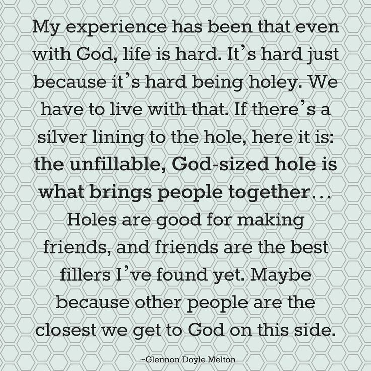 Carry on Warrior's Glennon Doyle Melton quote on friendship and being holey What Does it Mean to be a Good Friend?