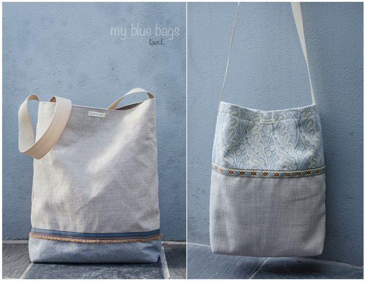 shopper blue bag
