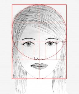 Drawing a female face
