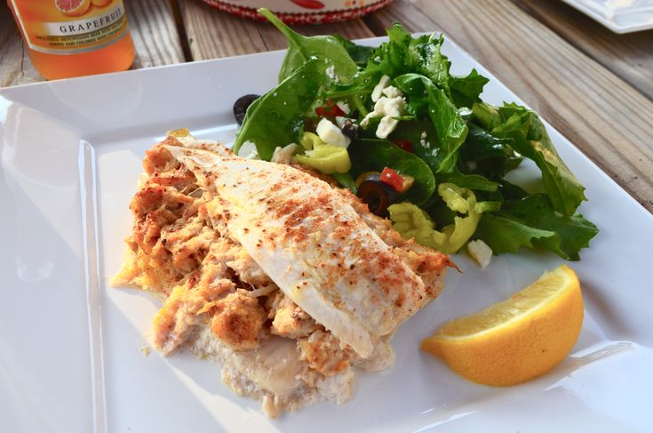 Flounder Stuffed with Crab Imperial