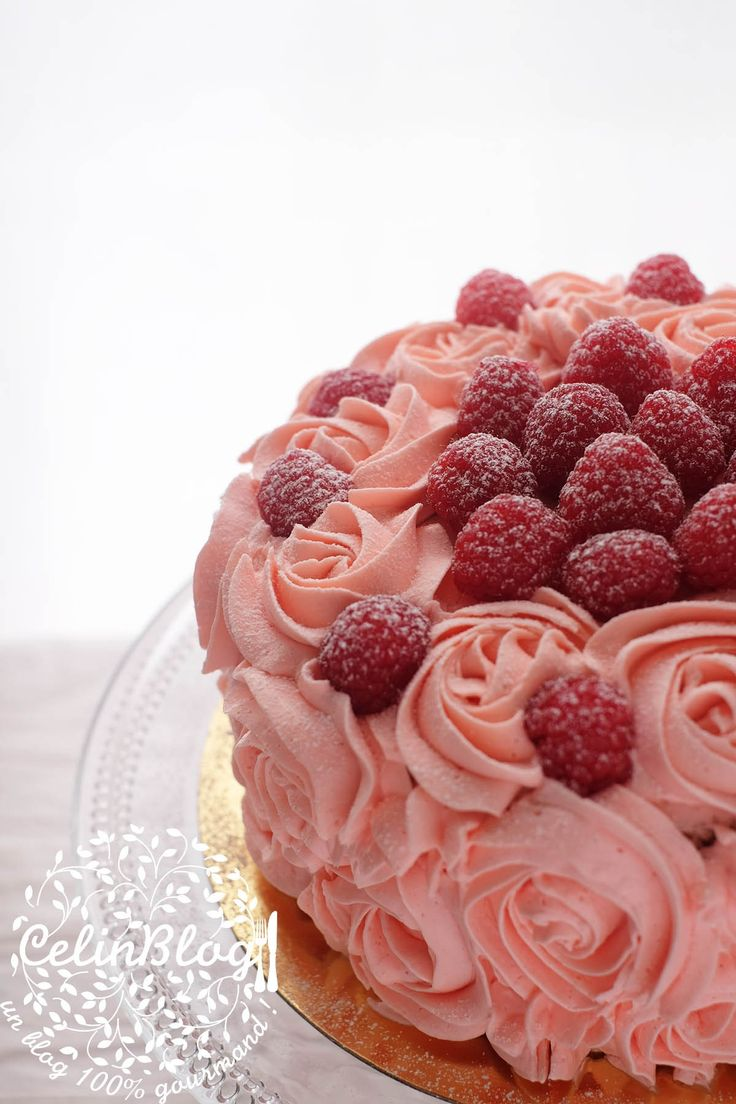 rose cake à la framboise