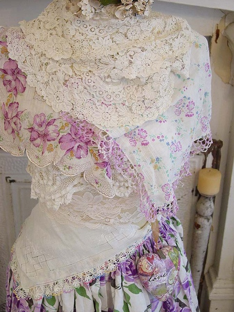 Lots of lace! by vintagedragonfly, via Flickr