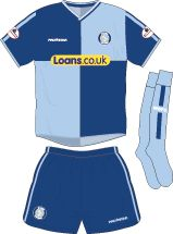 Wycombe Wanderers home kit for 2002-03.
