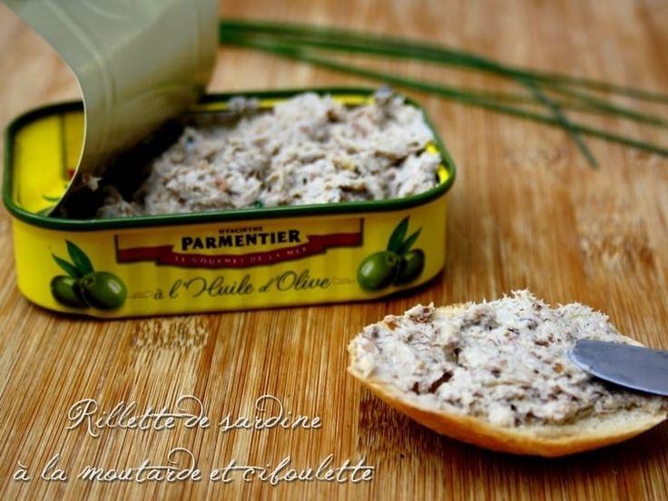Recette de Rillettes de sardine à la moutarde et ciboulette : la recette facile