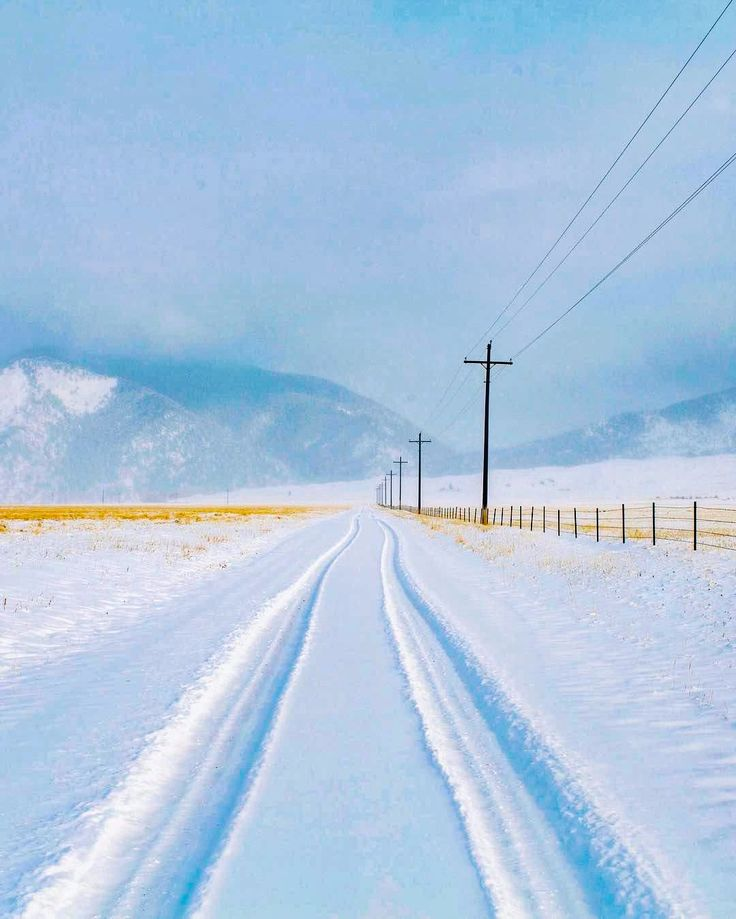 Country road in winter (Cameron, Montana) by Alex Strohl (@alexstrohl) on Instagram