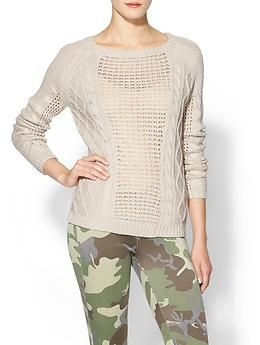 Greylin Eden Mixed Stitch Pullover Sweater | Piperlime
