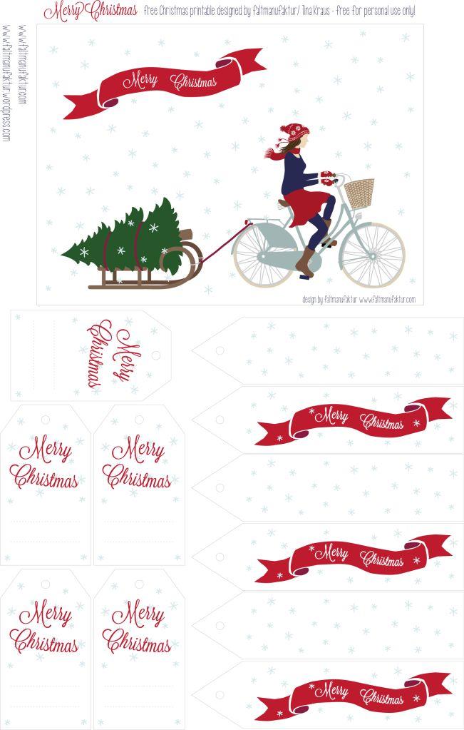 free Christmas printable 2012 by faltmanufaktur (gift tags & postcard)