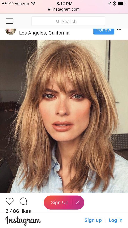 Women Hairstyles Shoulder Length Bangs Bangs Hairstyles